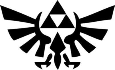 zelda triforce logo emblem decal sticker wii game
