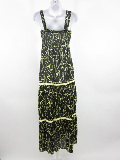 EXPLOSION Black Yellow Printed Sleeveless Dress Sz 40