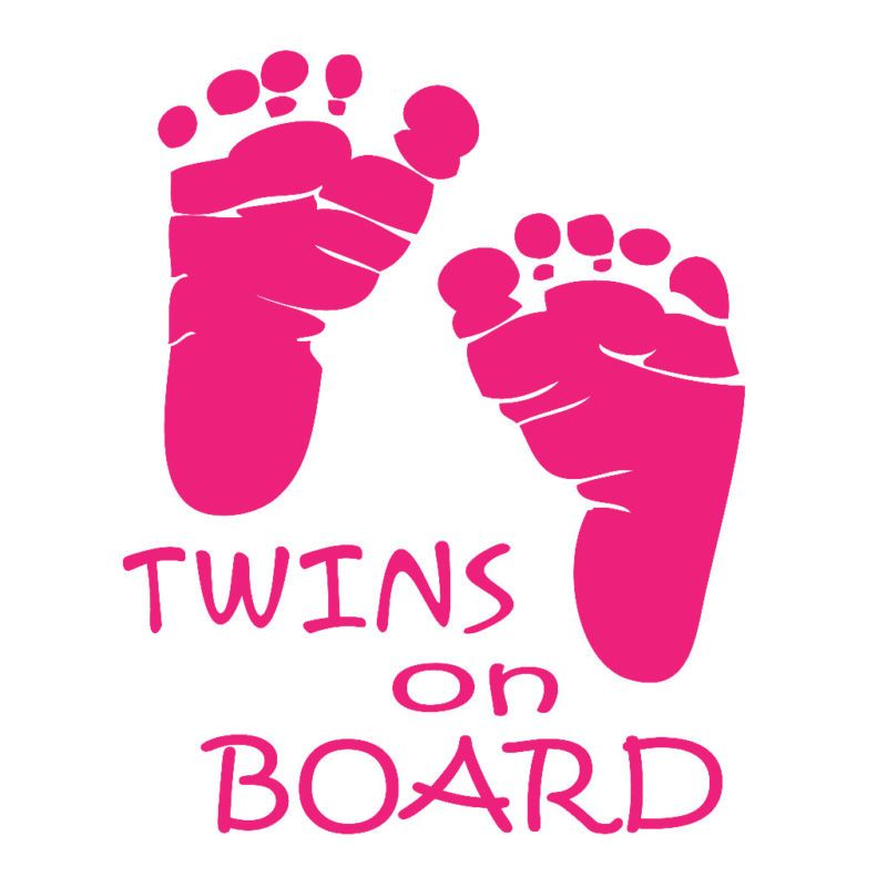 TWINS ON BOARD CUSTOM MADE VINYL CAR WINDOW BABY DECAL