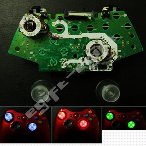 Thumbsticks LED Lighting Mod Kit Set for XBOX 360 Controller