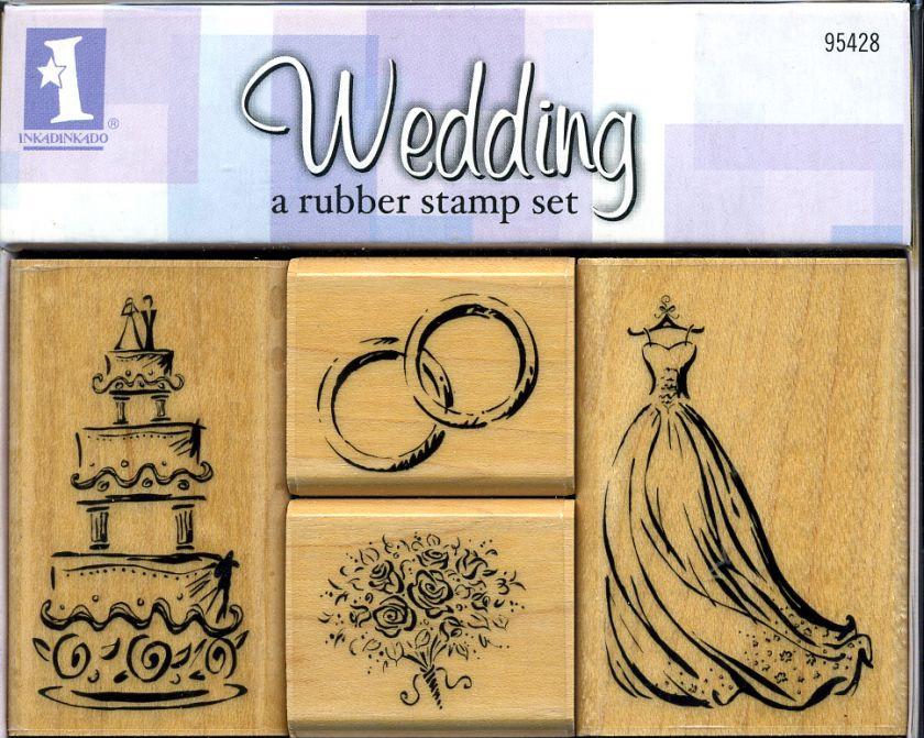 Elegant Rubber Stamps for Wedding, Love, Hearts & Valentines Asst