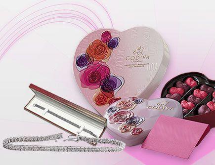 Valentines Day Package 2.00 ct Diamond Tennis Bracelet ,Card & Godiva