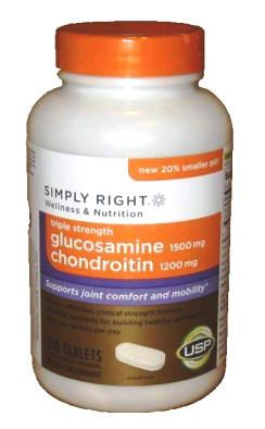 Simply Right Triple Strength Glucosamine HCl 1500 mg Chondroitin 1200