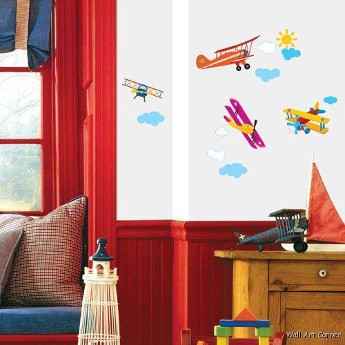 Aircrafts Nursery/Kids Room Wall Art Sticker Decals