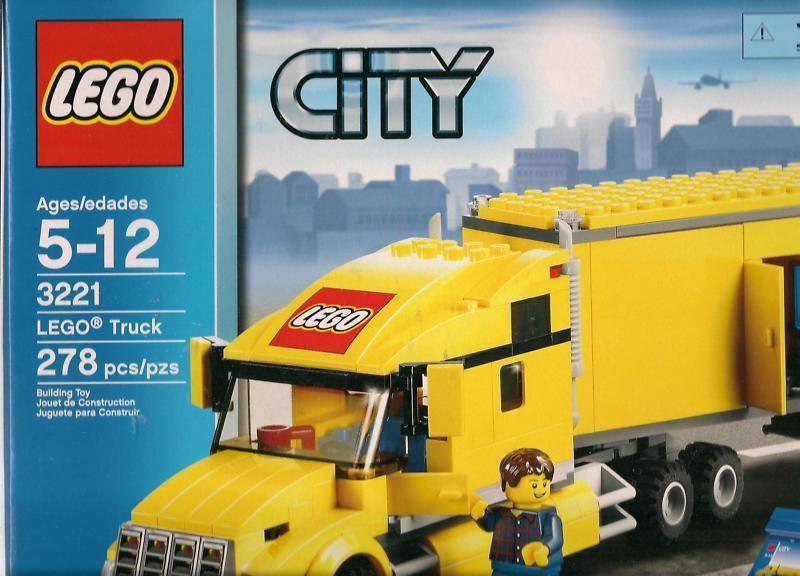 Lego City Yellow Lego Delivery Truck Set 3221 278 Pcs