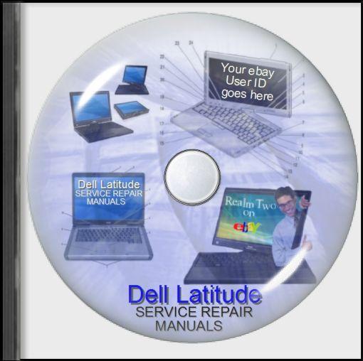 Dell Latitude Laptop Service Repair User Manuals on CD